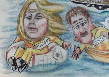 Editorial cartoon: Abandon ship!