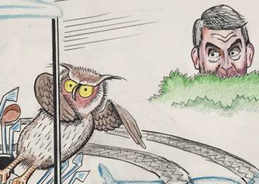Editorial cartoon: Run for your lives!