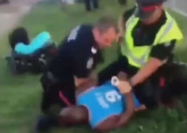 Knee-on-the-neck, a Canadian cops' technique