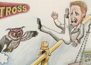 Editorial cartoon: Electoral slide