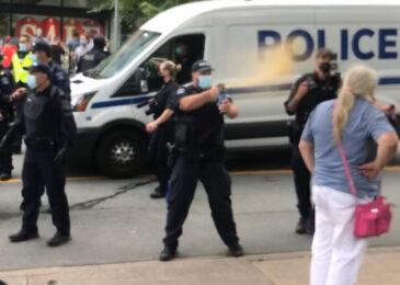 Martyn Williams: Police violence last Wednesday endangered pedestrians, including children