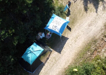 Press release: Don't Spray Us camps pop up on glyphosate spray sites